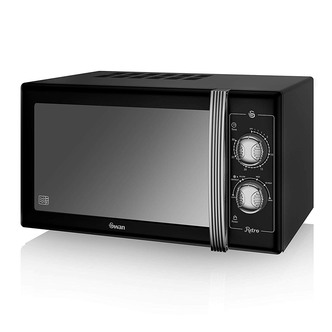Swan SM22070BN Retro Style Microwave Oven in Black 25 Litre 900W
