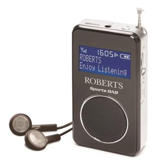 Roberts SPORTSDAB 6 Personal DAB DAB FM RDS Radio in Black Silver