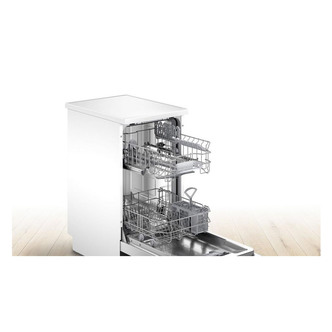Bosch SPS2IKW04G 45cm Slimline Dishwasher in White 9 Place F Rated