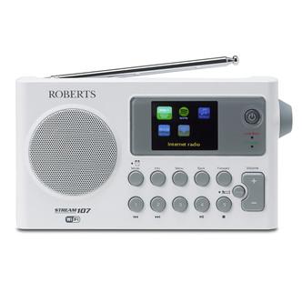 Roberts STREAM107 DAB DAB FM Wi Fi Internet Radio White