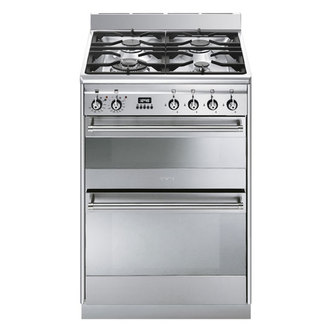 Smeg SUK62MX8 60cm Dual Fuel Double Oven Stainless Steel Cooker