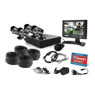 Swann SWDVK 415254 Security 4 Channel DVR with 4 Cameras 7 LCD Monitor
