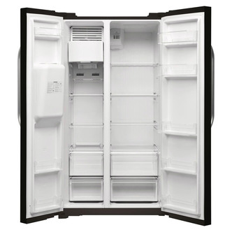 Hotpoint Day1 SXBHE925WD American Fridge Freezer - Black - A+ Rated