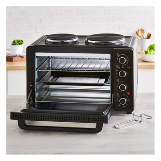 Tower T14044 Table Top Compact Electric Cooker in Black 32L