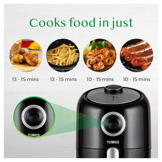 Tower T17026 Compact Air Fryer 1 6L 1000W
