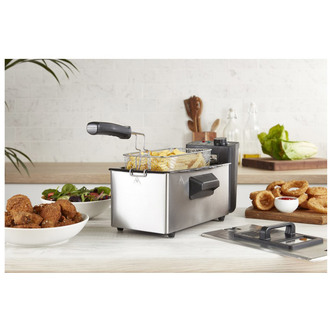 Tower T17048 3 0 Litre Deep Fryer in Stainless Steel 3L 2kW