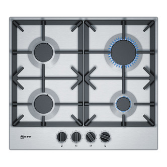 Image of Neff T26DS49N0 Built In 60cm 4 Burner Gas Hob in Stainless Steel
