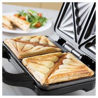 Tower T27013 Deep Fill Sandwich Maker in Black Silver