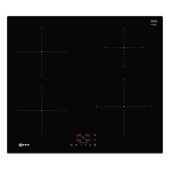 Image of Neff T36FB41X0G Built In 60cm 4 Zone Induction Hob in Black Glass