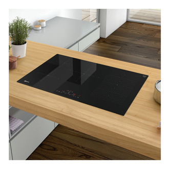 Neff T58FD20X0 Built In 80cm FlexInduction Hob in Black Glass