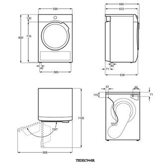 AEG T8DEC946R 8000 Series Heat Pump Tumble Dryer in White 9kg A