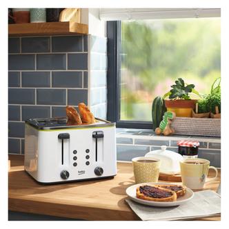 Beko TAM4341W 4 Slice Toaster in White
