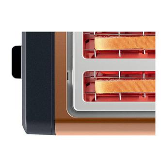 Image of Bosch TAT4P449GB 4 Slice Toaster in Copper