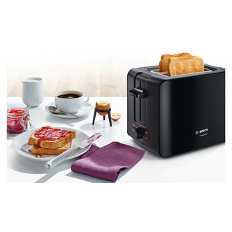 Image of Bosch TAT6A113GB ComfortLine Compact 2 Slice Toaster Black