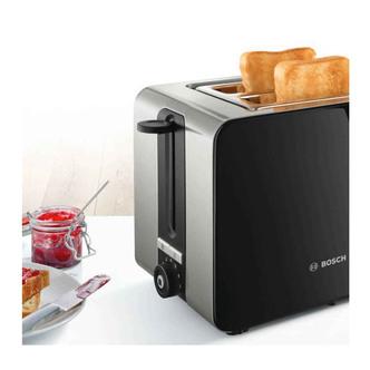 Image of Bosch TAT7203GB Sky Toaster 2 Slice in Black