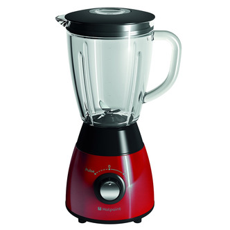 Hotpoint TB050 500W Jug Blender in Black Red