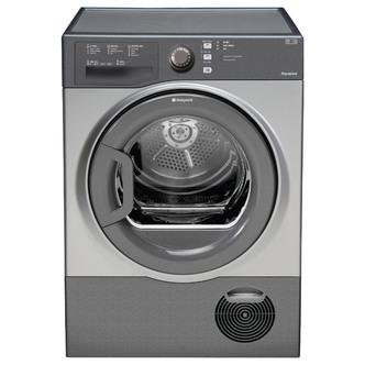 Hotpoint TCFS83BGG 8kg AQUARIUS Condenser Tumble Dryer in Graphite Sen