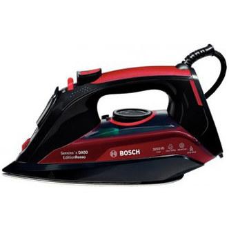 Image of Bosch TDA5070GB Advanced Steam System Steam Iron Black Red 3050W