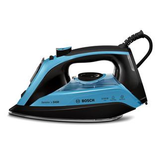 Image of Bosch TDA5073GB Advanced Steam System Steam Iron in Blue Black 3100W