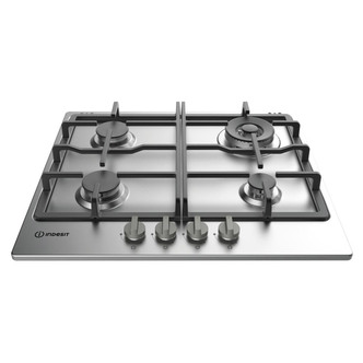 indesit thp641w ix i 60cm gas hob in stainless steel
