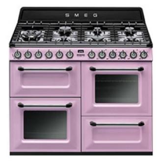 Image of Smeg TR4110RO 110cm Victoria Dual Fuel Range Cooker in Pink