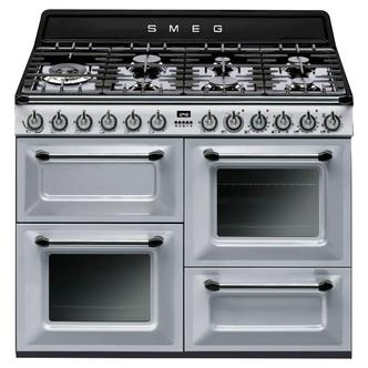 Image of Smeg TR4110S1 110cm Victoria Dual Fuel Range Cooker in Silver