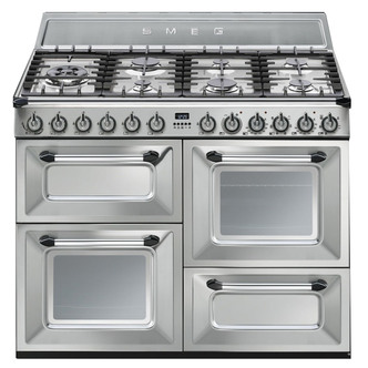Image of Smeg TR4110X 110cm Victoria Dual Fuel Range Cooker in St Steel