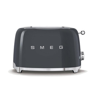 Image of Smeg TSF01GRUK Retro Style 2 Slice Toaster in Slate Grey