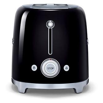 Smeg TSF02BLUK 50 s Retro Style 4 Slice Toaster in Black