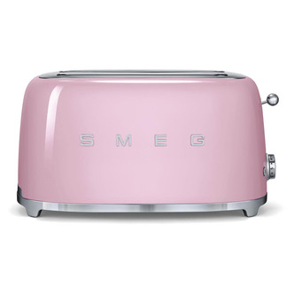 Smeg TSF02PKUK 50 s Retro Style 4 Slice Toaster in Pink