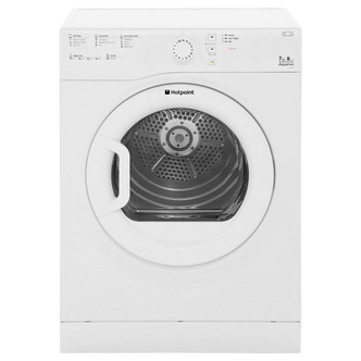Hotpoint TVFS73BGP 7kg AQUARIUS Vented Tumble Dryer in White Sensor