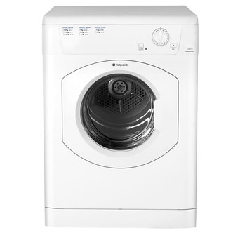 Hotpoint TVHM80CP 8kg AQUARIUS Vented Tumble Dryer in White