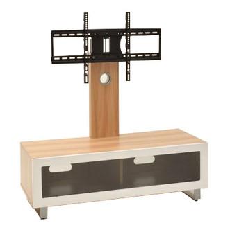 TTAP TVS1002 Munich 1250mm TV Stand in Light Oak VESA Swivel Bracket