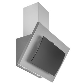 Image of Culina UBLCHH60 SS 60cm Angled Glass Chimney Hood Black Steel 3 Speed