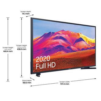 Image of Samsung UE32T5300 32 Full HD 1080p HDR Smart LED TV in Black 1000 PQI