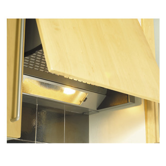 Unbranded 444449650 60cm Built In Canopy Cooker Hood in Silver