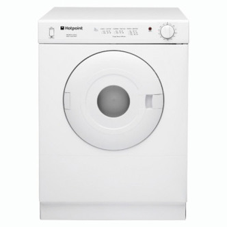 Hotpoint V4D01P 4kg Compact Tumble Dryer in White Vented Reversing
