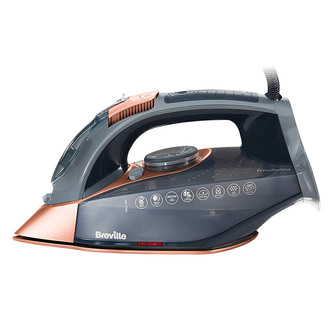 Breville VIN407 PressXpress Steam Iron in Grey Rose Gold 2800W