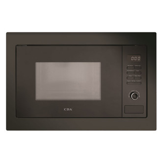 CDA VM231BL Built In Microwave Oven Grill in Black 900W 25 Litre