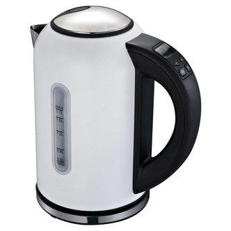 Linsar VT869WHITE Variable Temperature Jug Kettle in White 1 7L 3kW