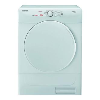 Hoover VTC590B 9kg Condenser Tumble Dryer in White Sensor B Energy