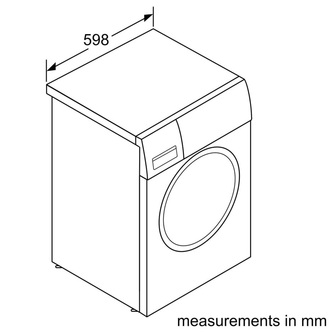 Image of Bosch WAU28TS1GB Serie 6 Washing Machine in Silver 1400rpm 9Kg A