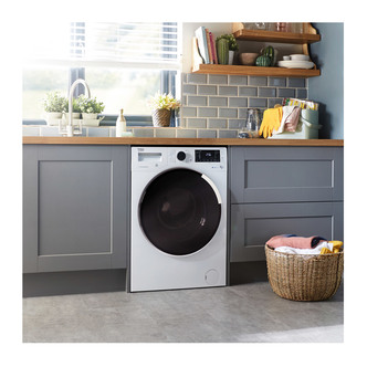 Beko WDR854P14N1W A Rated Freestanding Washer Dryer - White
