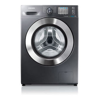 Samsung WF80F5EDW4X ECO BUBBLE Washing Machine in Inox 1400rpm 8kg