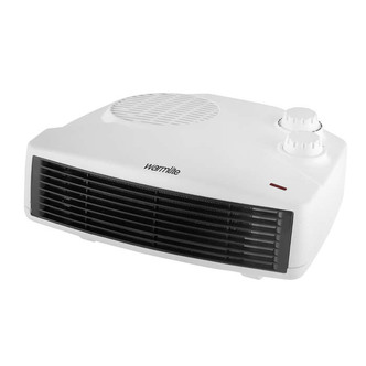 Heating & Cooling Warmlite WL44013 3kW Flat Fan Heater with Thermostat in White