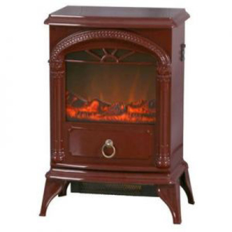 Electronic Gadgets Warmlite WL46012R 1800W Log Effect Stove Fire in Burgandy Red