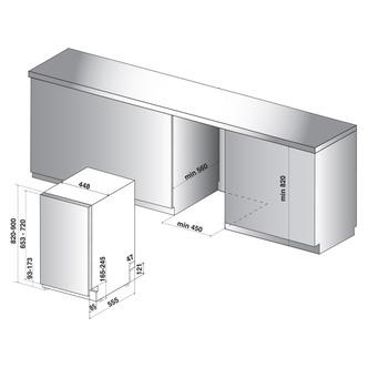 Whirlpool WSIC3M27C 45cm Fully Integrated Slimline Dishwasher 10 Place