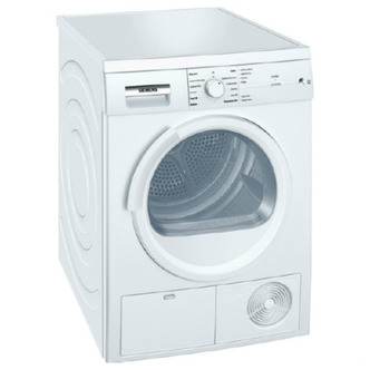 Siemens WT46E101GB 7kg iQ100 Condenser Dryer in White Sensor B Energy
