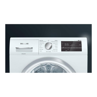 Image of Siemens WT47RT90GB 9kg Heat Pump Condenser Tumble Dryer in White A