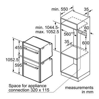 Neff Z11SZ90X0 Combination Strips Install Kit for 45cm 60CM Ovens